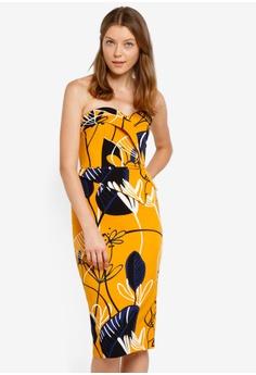 ed16ec013e Lavish Alice orange and multi Asymmetric Peplum Midi Dress LA457AA0SSQDMY 1