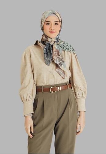 Seradia blue and purple and multi and grey Seradia Hijab Segi Empat Manatee Inaaya 70810AA680974EGS_1