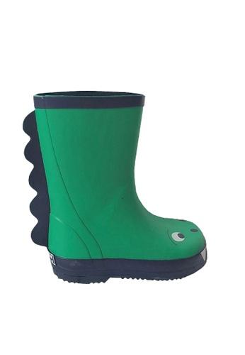 Twenty Eight Shoes 綠色 VANSA 時尚恐龍雨靴 VSK-R2 5FFB7KS0C5B74EGS_1