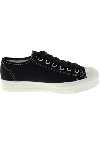 Maxstar black Maxstar Women's C1-1 6 Holes Canvas Low Top Casual Sneakers US Women Size MA164SH88PYPSG_1