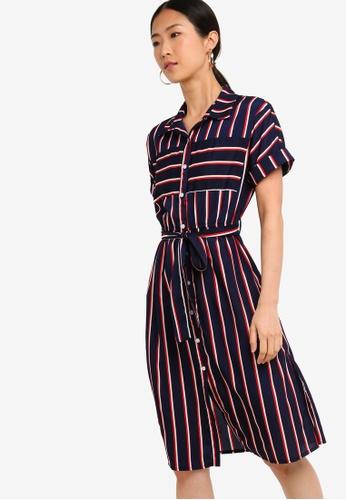 ZALORA BASICS multi Basic Midi Shirt Dress 4F17BAACAAE3E0GS_1