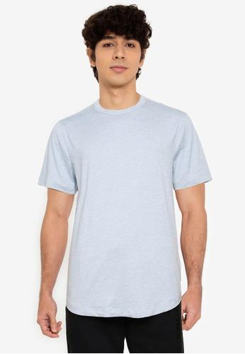 Abercrombie & Fitch blue Air Knit Crew T-Shirt 66E8EAAE229147GS_1