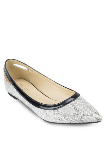 的Dawn 尖頭鏤空平esprit專櫃底鞋, 女鞋, 芭蕾平底鞋