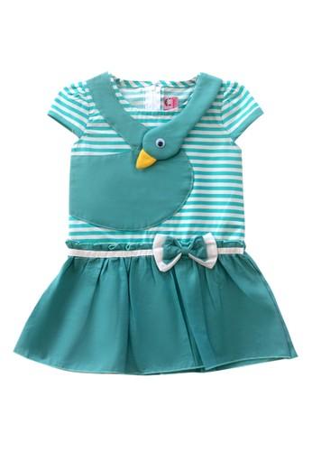 TWO MIX green Two Mix Dress Bayi Perempuan / Baju Bayi Perempuan / Gaun Bayi 4012 59118KAC0E92D9GS_1