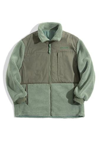 Twenty Eight Shoes green VANSA Vintage Polar Fleece Coat  VCM-C2007187 1B8A8AAC8DF5ECGS_1