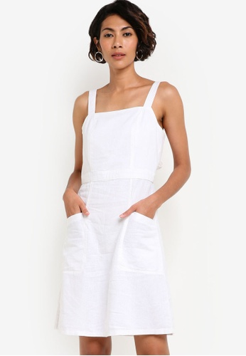 Dorothy Perkins white White Linen Dress DO816AA69AZIMY_1