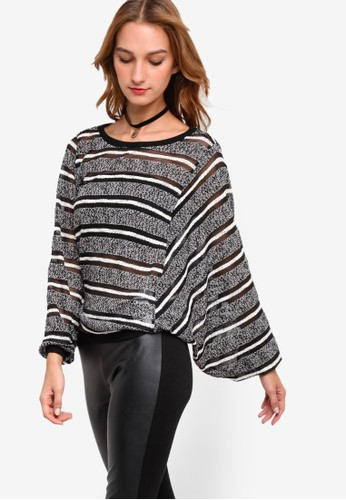 Cenzalora 泳衣tre 網格條紋長袖衫, 服飾, 外套