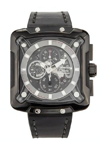 Alexandre Christie black Alexandre Christie Jam Tangan Pria - Black - Leather Strap - 3030 MCLIPBA A124CAC1A25DF9GS_1