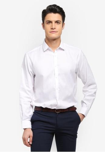 Kent & Crew 白色 基本長袖襯衫 3DD5CAAD24DB02GS_1
