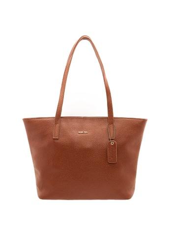 SEMBONIA brown SEMBONIA Genuine Leather Tote Bag SE598AC0RALXMY_1