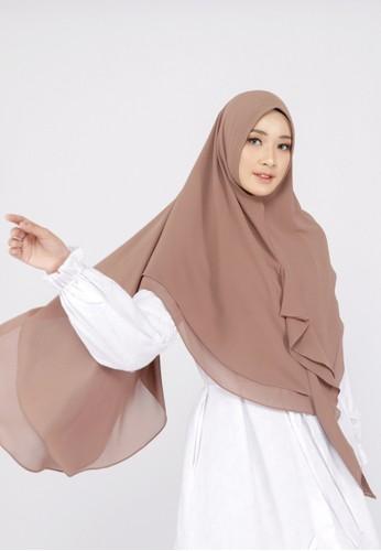 Mimamim brown Khimar Alia  Syar'i 3BD35AA88578EBGS_1