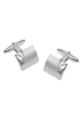 CUFF IT silver Classic Polished and Brushed Silver Cufflinks CU047AC38FSBHK_1