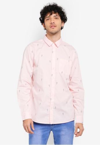 Cotton On pink Brunswick Shirt CO372AA0SSALMY_1