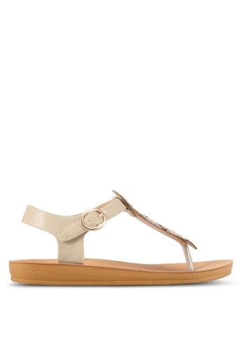 Noveni beige Embellished Sandals NO978SH0S9R5MY_1