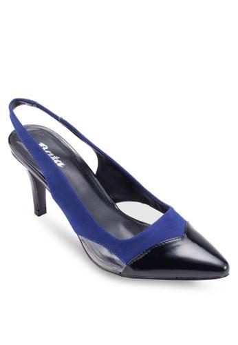 Weslesalon esprit 香港y 尖頭繞踝高跟鞋, 女鞋, 細帶高跟鞋