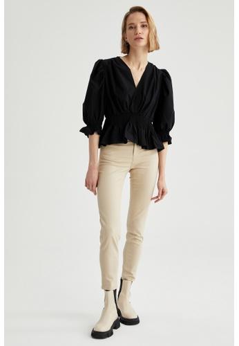 DeFacto grey Woman Woven Trouser 4CA57AABCCCB51GS_1