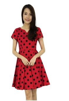 371b0aac143 MOONRIVER red Mini Polka Dot Fit And Flare Dress EAD43AA298472DGS_1