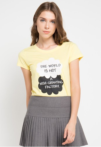 MEIJI-JOY yellow Print The World short sleeve Tshirt ME642AA0VRJZID_1
