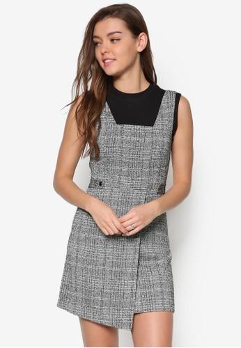 格紋裹飾吊帶連身裙、 服飾、 Love Your CurvesNewLook格紋裹飾吊帶連身裙最新折價