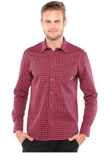 POLO HAUS multi Polo Haus Long Sleeve Shirt (Blue/Red) PO783AA80BITMY_1