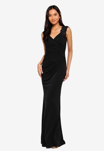 Lipsy black Embellished V Neck Maxi Dress 944F4AA95906E3GS_1