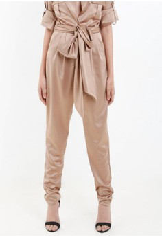 [PRE-ORDER] Basket Pants with Pleats and Sash Belt
