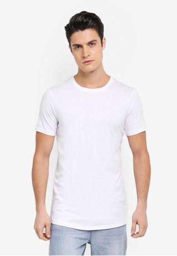 Cotton On white Essential Longline Curved Hem Tee 15068AAE26585DGS_1