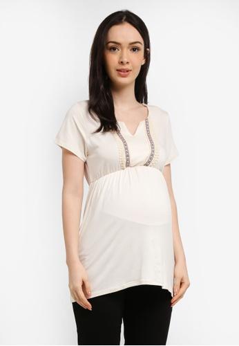 Envie De Fraise white Maternity Agathe Top 92B75AA4A4EC9EGS_1