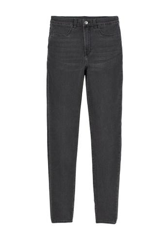 H&M grey Super Skinny High Jeans E9F34AAE5AD24CGS_1