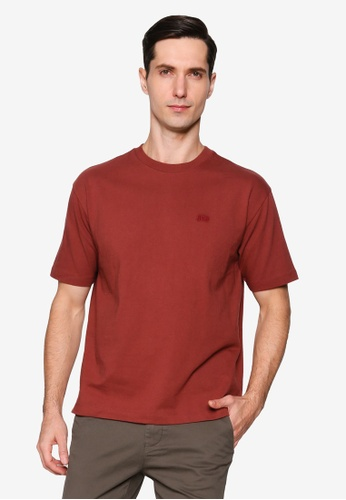 GAP brown Micro Arch Easy Tee 2D3F3AAA426CEAGS_1