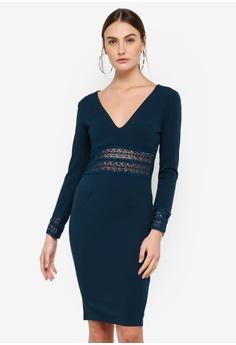 e0fdf3777a AX Paris green and blue Crochet Bodycon Dress 88E76AAEFB42F8GS 1