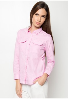 Halle Stripe Buttondown Shirt