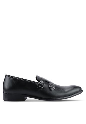 UniqTee 黑色 Double Monk-Strap Dress Shoes 54DB0SH9043AA3GS_1