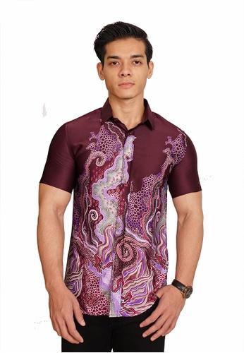 UA BOUTIQUE purple Batik Malaysia UASBM05-111 (Purple) 90BD2AA29E42ECGS_1
