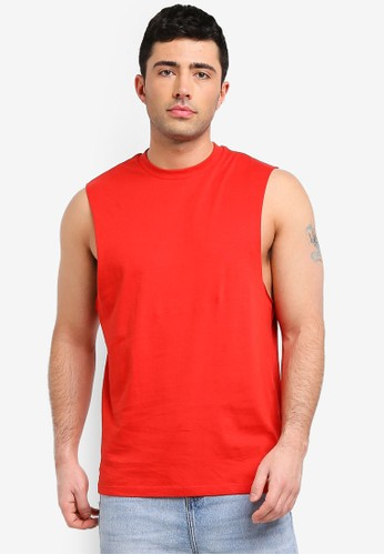 Only & Sons red Casper Tank Top 166A3AAC755EBEGS_1