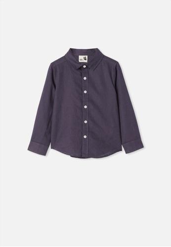 Cotton On Kids blue Harper Long Sleeve Shirt  49A23KA83CED3CGS_1