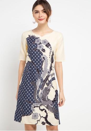 Rianty Batik beige Dress Velona F4ECEAA0CB038BGS_1