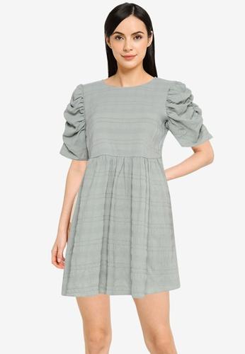 Noisy May green Victoria Short Sleeve O-Neck Dress 41270AA532874FGS_1