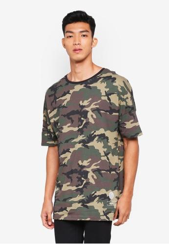 Cotton On green Drop Shoulder Longline T-Shirt 9A2B7AAE703C0AGS_1