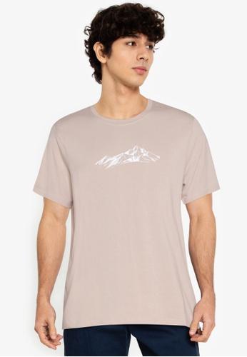 ZALORA BASICS beige Landscape T-Shirt 24472AA18D0756GS_1