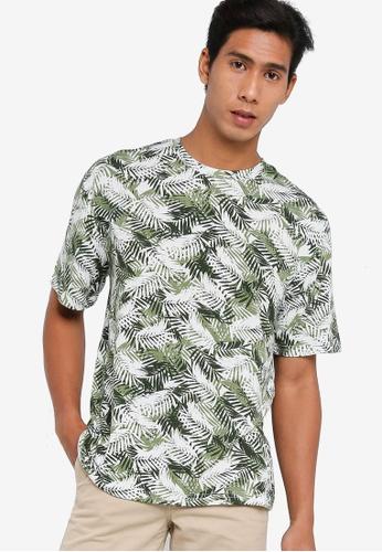 ZALORA BASICS multi Printed Oversized T-shirt DB0DAAA823F631GS_1