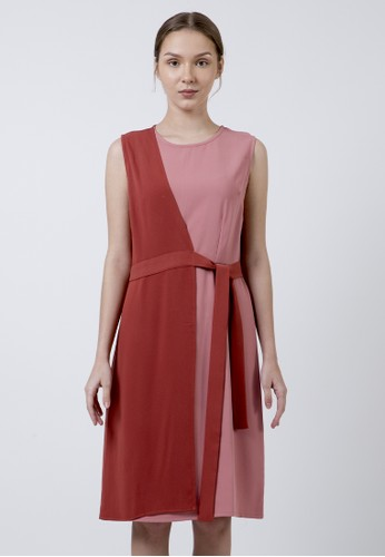 The Executive red Two Tone Tunic A2DF3AA1B0584EGS_1