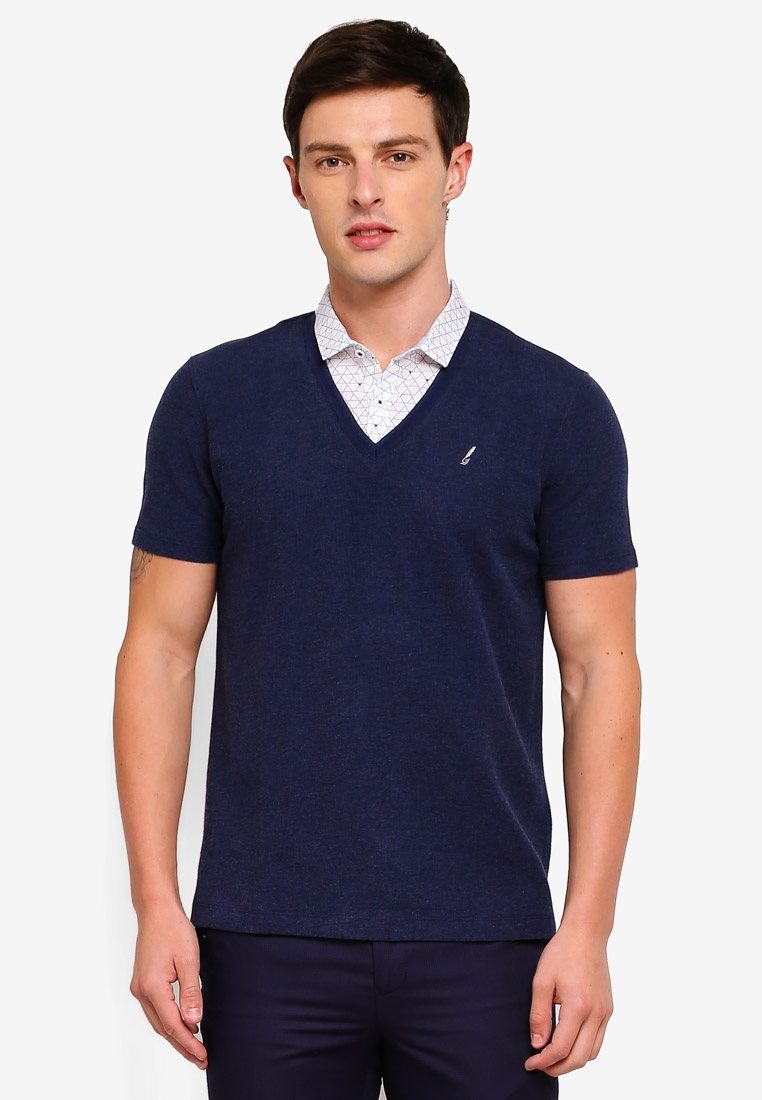 Collar Navy In Shirt 1 2 Polo Dark G2000 pEd0nwq