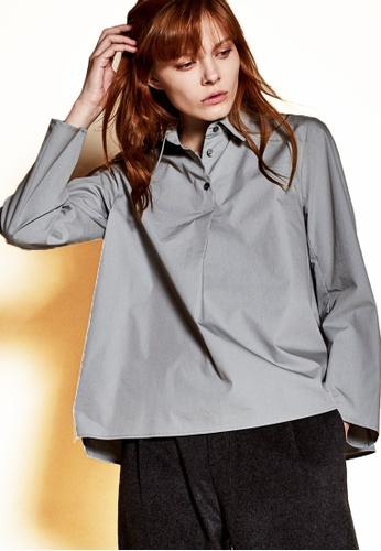The K Story blue Three Button Shirts' Blouse 44743AA1D41E62GS_1
