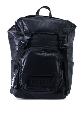 Desigual black Small Padded Backpack 7E271ACDDD4A23GS_1