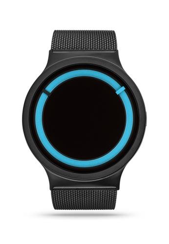 ZIIIRO black and blue Eclipse Steel Black Ocean Watch 95591AC77CFEBDGS_1
