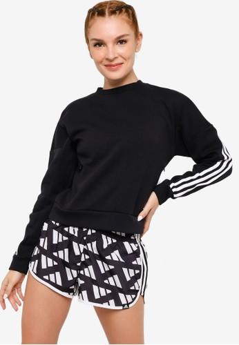 ADIDAS black branded icons 3-stripes sweatshirt 3D25AAA5449FB1GS_1