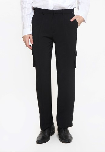 Ornith black Flap Pocket Side Pants 05626AA28DBFFAGS_1