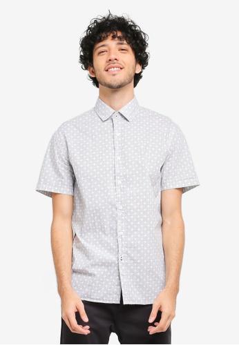MANGO Man white Slim-Fit Printed Cotton Shirt MA449AA0T1DXMY_1