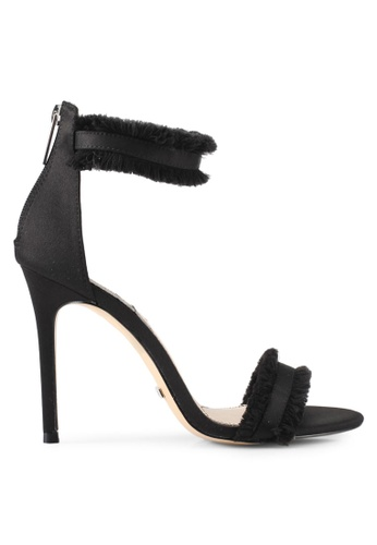 TOPSHOP black RILEY Two Part Heel Sandals TO412SH0SLDKMY_1